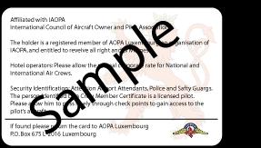 Air Crew Card back