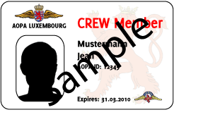 Air Crew Card front